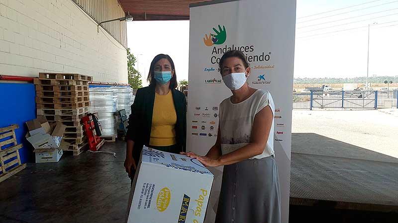 Entrega de alimentos de Andaluces Compartiendo a Fundacion Prodean 2