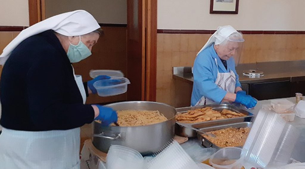 Recogida de alimentos comedor social La Milagrosa Cáceres colabora Fundación Prodean