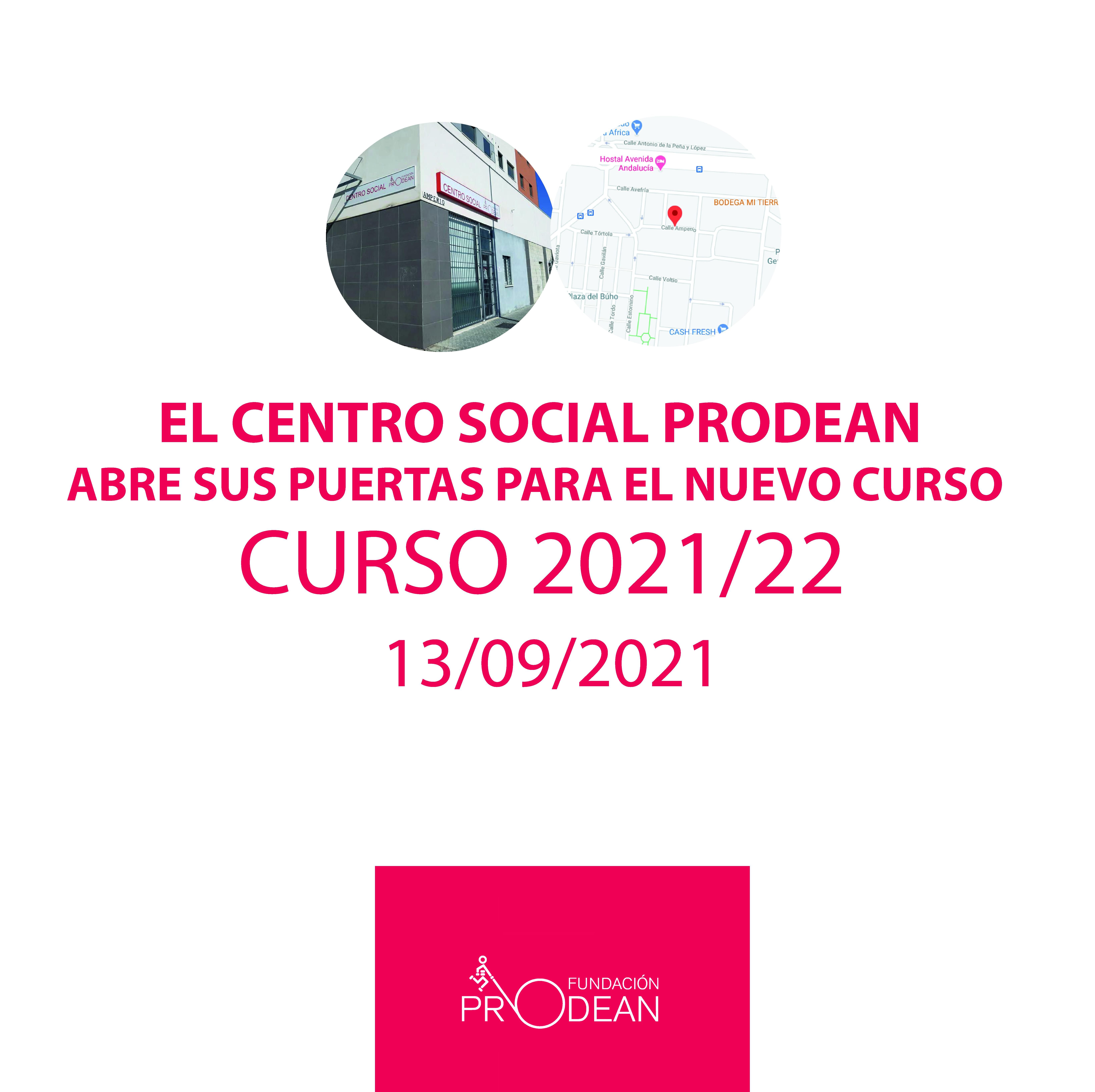 Apertura curso 2021/22 Centro Social Prodean Los Pajaritos acción social Sevilla