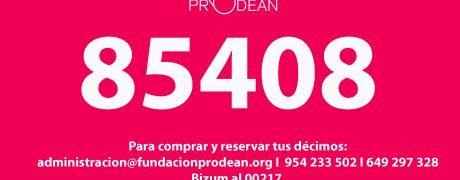 lotería navidad 2021 fundación prodean